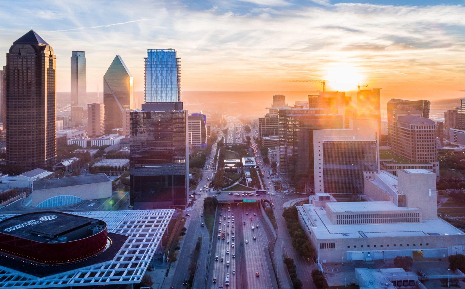 Dallas Skyline in the evening